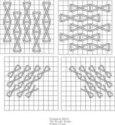 May 18_Hourglass needlepoint stitch