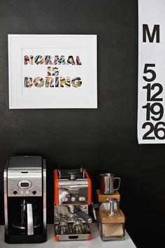 DIY custom phrase mat board via A Beautiful Mess