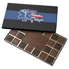 EMT Paramedic EMS Ambulance 45 Piece Assorted Chocolate Box
