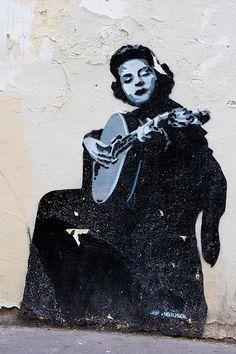Jef Aérosol - Rue de lArbalète, Paris 5è - Amalia Rodriguez