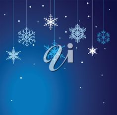 iCLIPART - Clip Art Illustration of a Winter Snowflakes Background