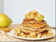 Cinnamon pear pancakes