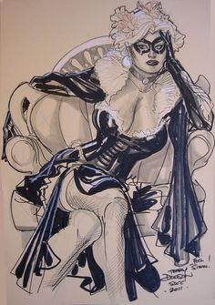 Black Cat by Terry Dodson Comic Art