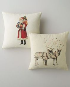 Linen Holiday Pillow Cover