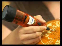 Video tutorial for carving a #pumpkin using a Dremel tool #Halloween