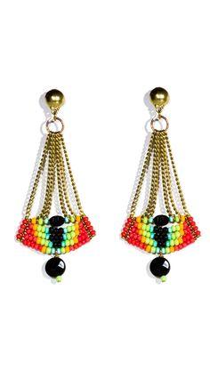 Rainbow Beaded Earring