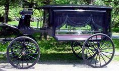 Enclosed hearse, 1880. Beautiful