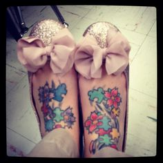 love the tattoos!! Autism awareness!