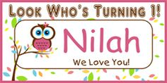 Look Who's Turning 1 - Personalized Birthday Banner.