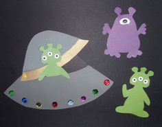 Crack of Dawn Crafts: Alien Birthday Party Invitation