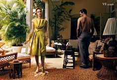 Jon Hamm & January Jones - Annie Lebowitz