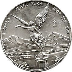 Moneda onza de plata Mexico 2009