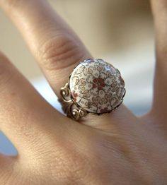 Vintage Autumn Night Ring.