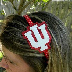 Indiana University IU Glitter headband by MissPrissHeadbands, $9.00