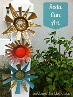 DIY & Crafts - Gardening/Outdoors: Soda Can Art for Your Garden!