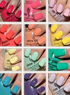 Want. All. Of. Them. China Glaze Nail Lacquers #chinaglaze #OPI @opulentnails