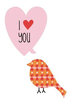 I <3 You Valentine's Day Card