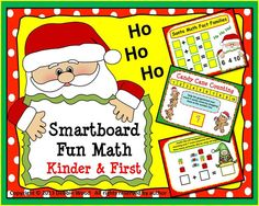 Christmas Smart board Fun Math:  Kinder and First