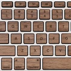 Walnut keys for MacBook Pro