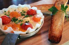 Baked Eggs for Breakfast at Cafe Enzo, Hunter Valley
