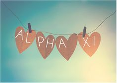 heart sunshine. alpha xi.