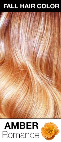 Fall 2014 Hair Color Trend: Amber Romance! The perfect combination of copper and apricot hair color hues!