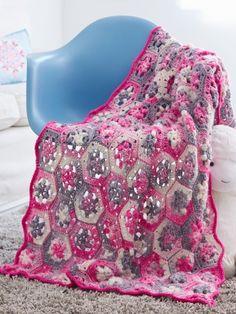Hexi Baby Blanket - Free Crochet Pattern @ Yarnspirations