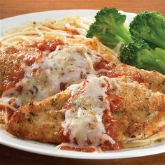 Simple Chicken Parma - Our inspired rendition of the classic Chicken Parmigiana. Tender chicken cutlets, encrusted with Parmesan cheese and seasonings, are topped with marinara sauce and mozzarella.