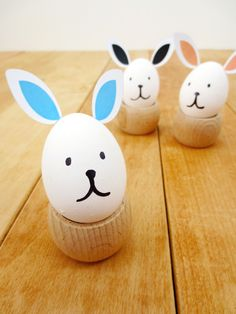 Easter bunny eggs with pdf ear printable