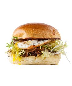 The slightly runny egg yolk creates a rich, delicious sauce as it mingles with the fig jam. Get the recipe for Egg, Frisée, and Caramelized Onion Sandwich.
