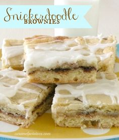 Snickerdoodle Brownies featured at Thursday's Treasures Link Party