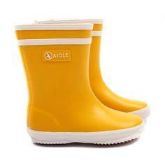 Aigle Yellow Baby Wellington Boots