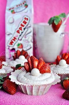 Strawberry MilkShake Whopper Cupcakes