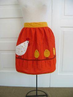 hen & chicks apron