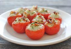 Cauliflower Puree Stuffed Tomato