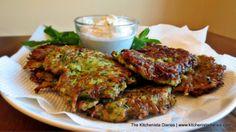 The Kitchenista Diaries: Green Harissa Zucchini Fritters & Mint Yogurt Dip