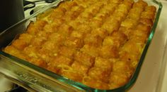 Snarky Vegan's White Tash Tater Tot Casserole with Daiya Cheddar Cheese and Veggies