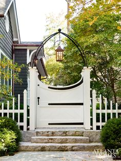 custom gate and lantern.
