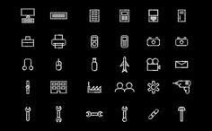 Icons for Function Engineering designed by Sagmeister & Walsh