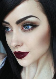Great dark lipstick look