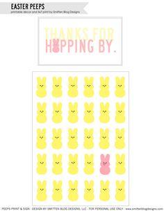 Easter Bunny Treats card and Peeps Bunny 5x7 Print.
