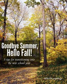 Goodbye Summer, Hello Fall! - 5 Tips For The Transition | HSLDA Blog