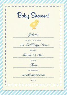 Custom baby shower invitation created with the Martha Stewart CraftStudio app.