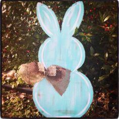 On Sale Easter Bunny Door Hanger Easter Door by BluePickleDesigns, $32.00