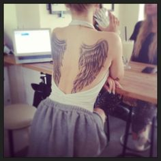 Angel Wings Tattoo! This is exactly what I want, in love with this!!!
