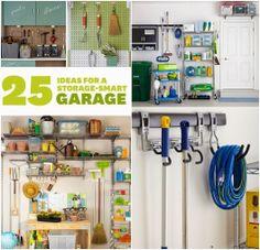 25 Ideas for a Storage-Smart Garage garag