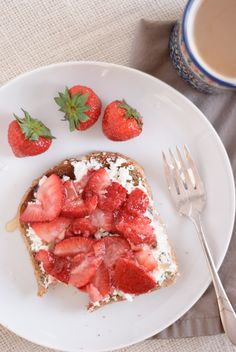 goat cheese and strawberries