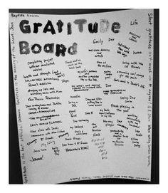 gratitud board, gratitude