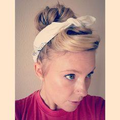 Pin up hair - head scarf - hair scarf