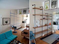 industrial shelves for eli's room